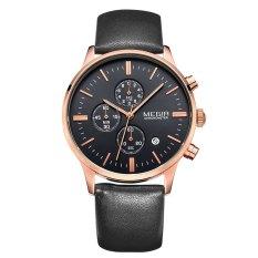 MEGIR 2300 Water Resistant Male Japan Quartz Watch With Date Function Three Working Sub-dials - Intl