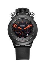 Megir Men's Multifunction Waterproof Fluorescence Pointer Sport Watch (Black)