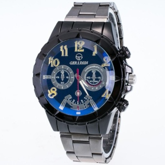 Men Motion Form Stainless Steel Sport Quartz Hour Wrist Analog Watch YE - intl