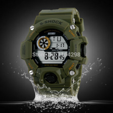 Men S Shock Military Watch LED Digital Watch 50 Waterproof Multifunction Student Army Wristwatches Sports Watches - Intl