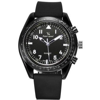 Men Silicone Strap Waterproof Military Watches Quartz Watch Clock Male