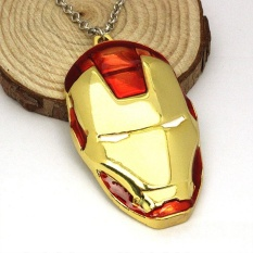 Men's Fashion Iron Man Mask Figure Necklace Movies Jewelry Alloy Gifts - intl
