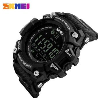 Men's Sports Waterproof Digital Wristwatches Smart Pedometer Bluetooth Watch Skmei 1227 - Black(BLACK)