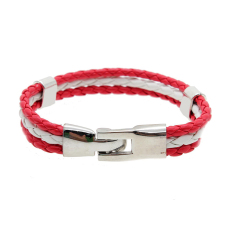 Mens Womens Leather Bracelet World Cup FIFA Soccer Fans National Flag Colorful Canada - Intl