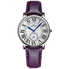 Mingjue IBSO Boerni Aibisino Women's Girl Genuine Leather Waterproof Quartz 2 Dials Roman Numerals High Quality Wrist Watch D6801