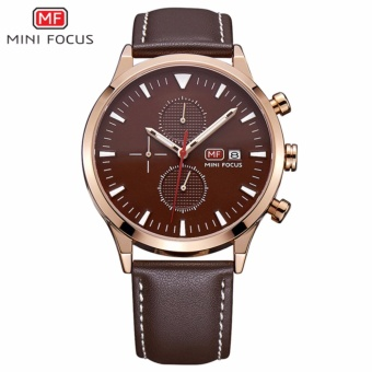Mini Focus Men'S Watch Top Brand Luxury Chronograph Quartz Wristwatch Clock Leather Strap Army Military Sports Watches Men Gifts - intl