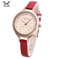 MiniCar VILAM V1017L - 01I Female Quartz Watch Artificial Diamond Dial 3ATM Slender Leather Band Wristwatch #9 (Color:#9) - Intl