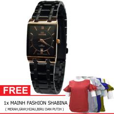 Mirage BOGOF H230D23MRG7908LHTMG Date Jam Tangan Wanita Stainless steel ( Hitam) + Gratis MAINH Fashion
