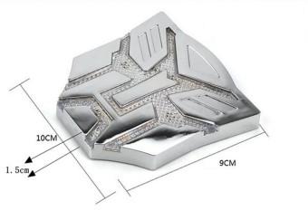 Jual Mobil Tenaga Surya Lampu Peringatan Stiker Autobot Mobil 3D Decepticon Logo Lambang Stiker Krom -