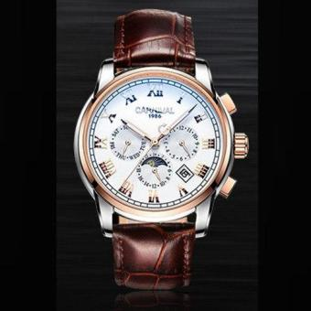 Moob Carnival Tourbillon Automatic Mechanical Men Watch Fashion Waterproof Full Steel China Brand Watches Genuine Leather Strap Male