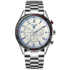 Moob Tevise Selling Twiss Switzerland Genuine Six-pin Multi-function Automatic Mechanical Men's Watches Waterproof Male Table (White) - Intl