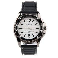 Moonar Men Fashion Cool Sports Watch Silicone Band Wristwatch Black