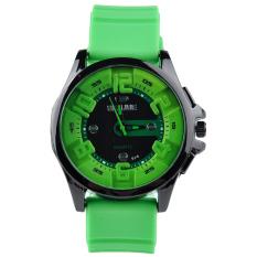 Moonar Senjue Men's Fashion Cool Quartz Sports Wristwatch Silicone Band Green