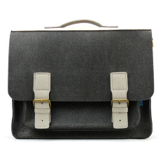M.R.K.T. Kendrick Briefcase - Charcoal/Stone Grey