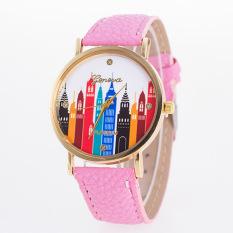 Ms. Quartz Watch Colorful Dial Fashion Wild Strap Watch - Intl