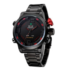 Multi Function Quartz Digital Mens Military Sport Wrist LED Watch Red
