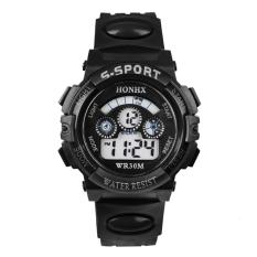 Multifungsi tahan air jam tangan anak olahraga elektronik (hitam) - International
