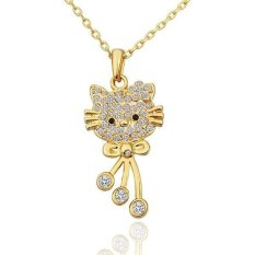 N590 Wholesale Nickle Free Antiallergic 18K Real Gold Plated Wholesale Hello Kitty Fashion Accessory Free Shipping