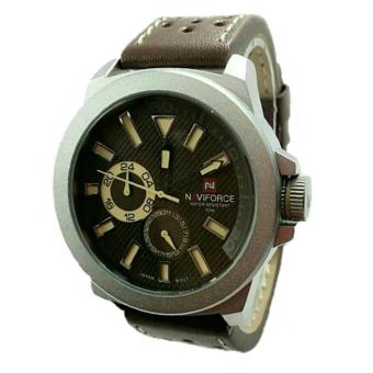 Naviforce - Jam Tangan Kasual Pria - Leather Strap - NV9018