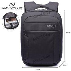 Navy Club Tas Ransel Laptop Tahan Air 5881 Backpack Up to 15 inch - Hitam