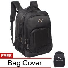 Navy Club Tas Ransel Laptop Tahan Air 5906 Backpack Expendable Up to 15 inch Bonus Jas Hujan - Hitam