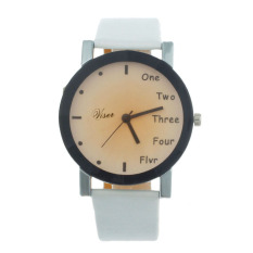 Neutral Leisure Letters Motion Simulation Of Electronic Quartz Watch White (Intl)