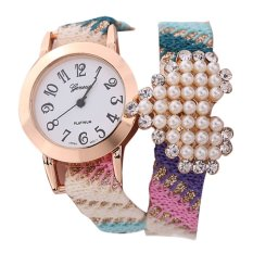 New Casual Fabric Bracelet Wristwatch Women Brand Geneva Watch NO.1 (Intl)