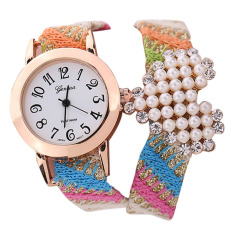 New Casual Fabric Bracelet Wristwatch Women Brand Geneva Watch NO.3 (Intl)
