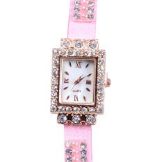 New Design Women Vintage Cow Leather Strap Watches,Women Wristwatches Pink (Intl)