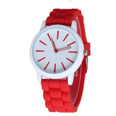 New Fashion Designer Ladies Sports Brand Silicone Watch Jelly Watch 9 Colors Quartz Watch For Women (Intl)