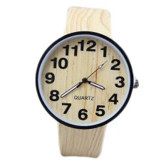 New Fashion Lovers Watch Rome Popular Imitation Wood Grain Grain Character Watches - Intl