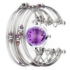 New Fashion Luxury Women Stainless Steel Band Bracelet Bangle Quartz Wrist Watch (Intl)