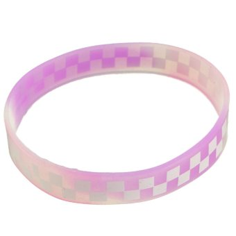 New Luminous Silicone Rubber Wristband Bracelet Bangle Colorful Multi-Color