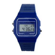 New Silicone Rubber Strap Retro Vintage Digital Watch Boys Girls Mens Blue