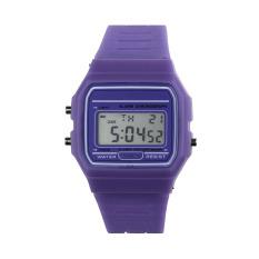 New Silicone Rubber Strap Retro Vintage Digital Watch Boys Girls Mens Purple