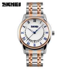 New Top Brand SKMEI Men Watches Luxury Men Quartz Casual Wrist Watches Full Steel Men Waterproof Sports Watch (Blue)