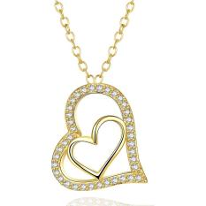 NHT17-AHigh Quality Zircon Necklace Fashion Jewelry 18K Gold Plating Necklace - Intl