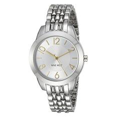 Nine West Women's NW / 1761SVTT Two-Tone Bracelet Watch (Intl)