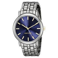 Nine West Women's NW / 1805BLGN Gunmetal Bracelet Watch (Intl)