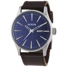 Nixon A105-1524 The Sentry Leather Blue Brown Watch (Intl)
