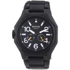 Nixon The Tangent Matte Black Surplus Black Dial Black Ion-plated Watch A397001 (Intl)