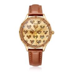 Nonof Relogio Feminino Julius Brand Women Dress Watches Big Heart Dial Diamonds Quartz Watch Leather Wrist Watch For Girls Clock JA851