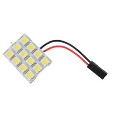 OEM 12 SMD 5050 Pure White Light Panel T10 BA9S Festoon Car 12 LED Interior Bulb