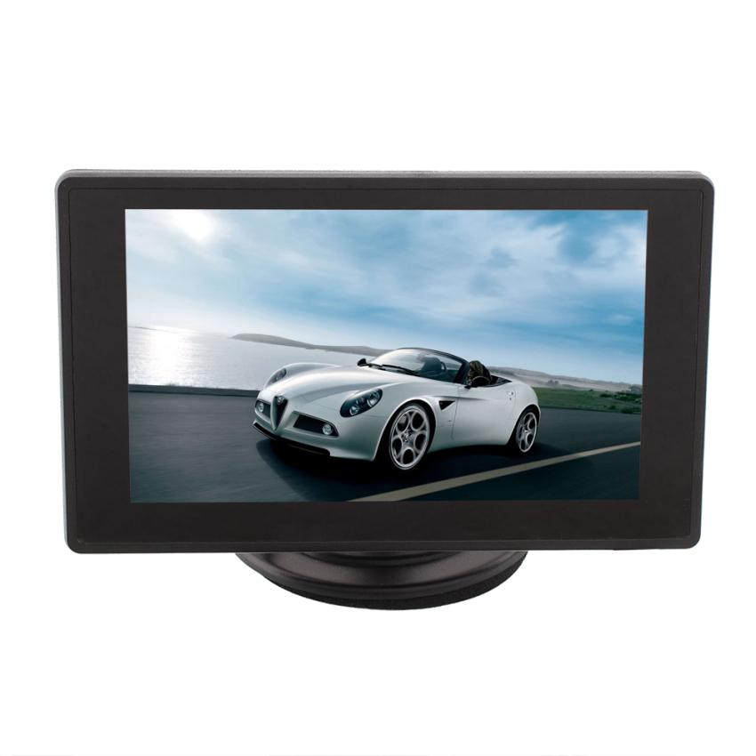 OEM 480x272 Car 4.3' TFT LCD Black Color Rear View Monitors HD Display GPS