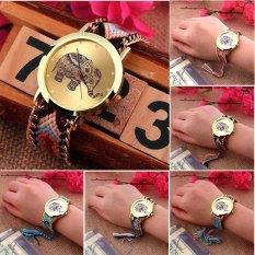 OH New Colorful Women's Geneva Ethnic Braided Quartz Chain Bracelet Wrist Watch 3