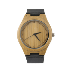 OH Vintage Wooden Dial Watch Quartz Watches Men Women Couple Watch Black Pointer Black (Intl)