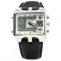 OHSEN AD0930 Men Analog Sports Digital Watch Dual Time Display WHITE (Intl)