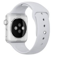 Olahraga gelang silikon untuk tali pengikat band Apple Watch iWatch 42 mm ( Abu-abu