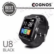 Onix Cognos U Watch U8 Smartwatch Original - Strap Rubber - Hitam