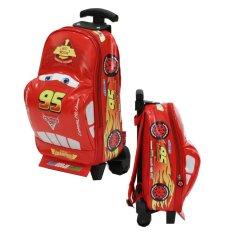 Onlan Cars McQueen Tas Trolley Anak Sekolah Play Group - Red